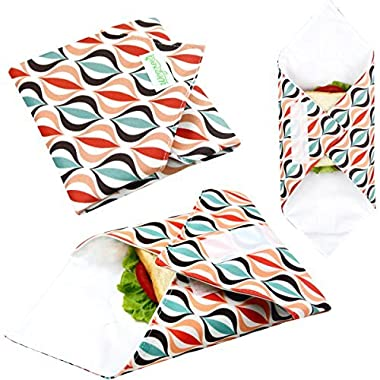 Wegreeco Reusable Sandwich Wrap, (Set of 3) - Geometry