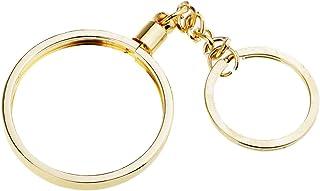 LoveinDIY Vintage Coin Holder Keychain Keyring For Women Men Gift 40mm