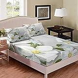 richhome Rose Floret Juego de sábanas de cama King Butterfly Warm Bedding Set White Flower Bed Sheets para niños Ropa de cama Decoración de habitación 3 piezas