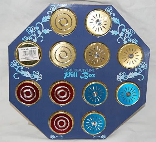 Pk/12 3 Times a Day Medicine Box Pill Box Travel Pill Container Vitamins Box Jewellery Box  Vitamin D and Fish Oil Box Diamond Cut Design