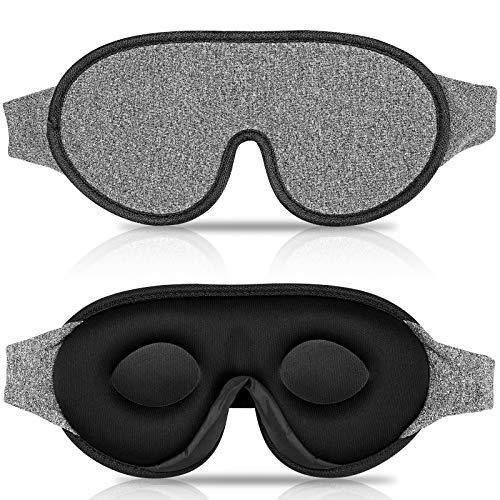 IDENTIL 3D Sleep Mask for Men Women, 100% Blackout Eye Mask for Sleeping with Adjustable Strap, Comfy and Breathable Sleeping Mask, Light Sleep Eye Mask for Travel, Sleeping, Shift Work, Naps, Yoga