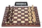 Square - Ajedrez Set S1 - Tablero de ajedrez - SENADOR Lux + Reloj DGT 1001