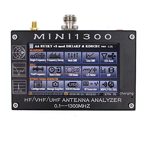 Vector Network Analyzer Portable Digital Hand Screen Vector Touchscreen HF/VHF/UHF Antenna Analyzer 0,1~1300 MHz