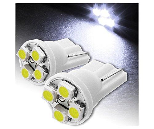 T10 4 led SMD paire de feux de position à led T10 (xenon Blanc 6000 K SMD 4 12 V 5W)