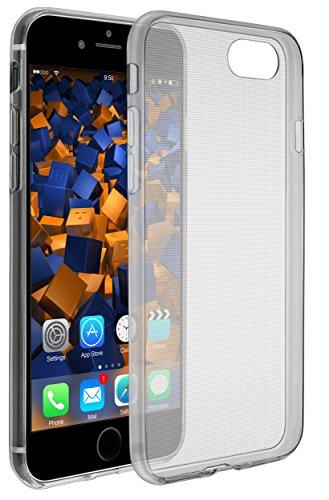 mumbi Hülle kompatibel mit iPhone SE 2 2020 / 7 / 8 Handy Hülle Handyhülle dünn, transparent schwarz