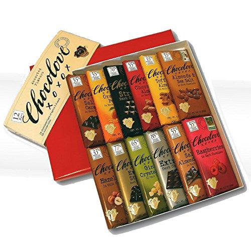 Chocolove 55 Percent Cocoa Almond and Sea Salt Dark Chocolate Bar, 3.2 Ounce -- 144 per case