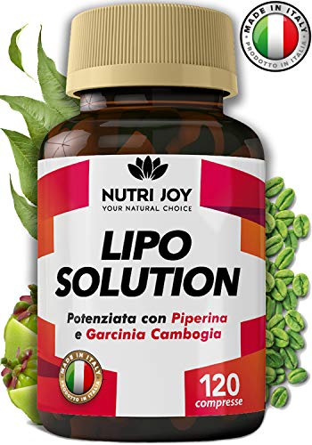120 Compresse | Fat burner LIPO SOLUTION | Termogenico Naturale | MADE IN ITALY | Pillole Dimagranti Brucia Grassi Potenti Veloci | Dimagrante Forte e Brucia Grassi Addominali | 100% Vegano
