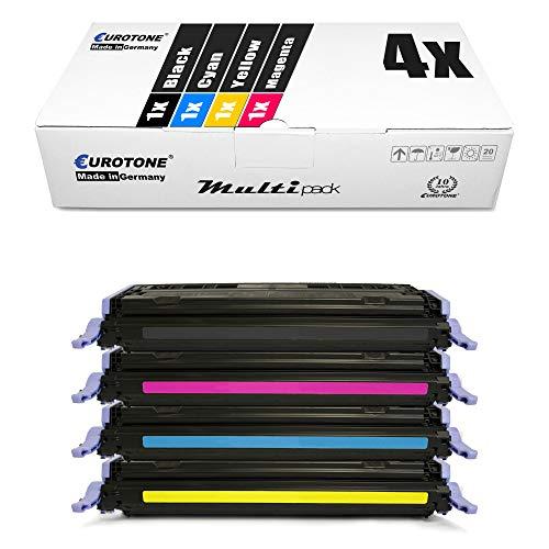 4X Eurotone kompatibler Toner für HP Color Laserjet 1600 2600 2605 DN N DTN ersetzt Q6000A-03A 124A
