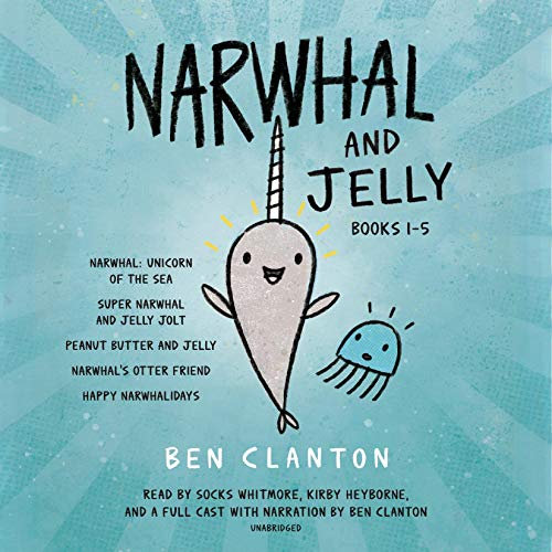 Narwhal and Jelly Books 1-5 audiobook cover art