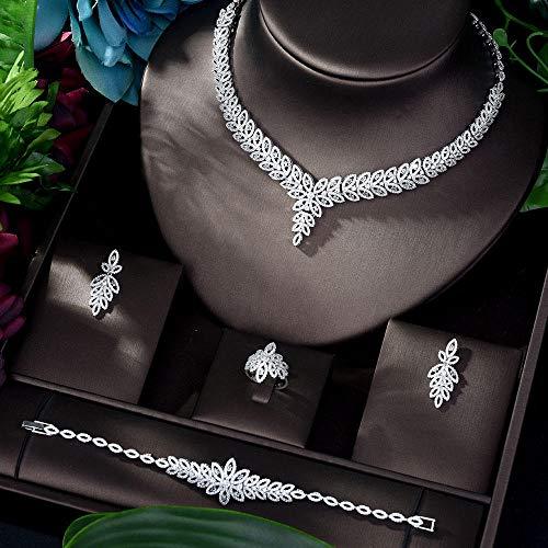 Jskdzfy 4 Pz Set Sparkling Crystal Wedding Bridal Shinning Jewelry Accessorio per La Data del Partito della Sposa Dono Regalo Queen (Color : Gold)