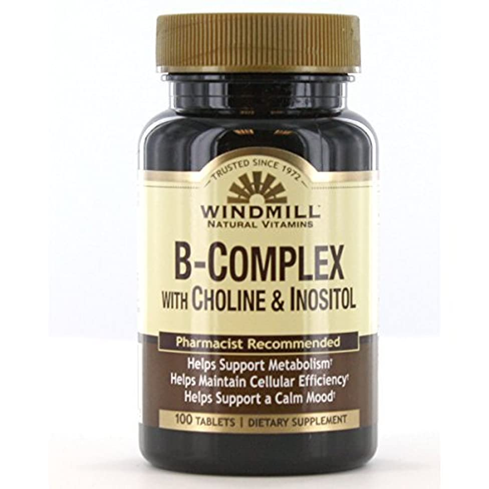 Windmill B-Complex With Choline and Inositol Tabs 100'S Windmill by Windmill