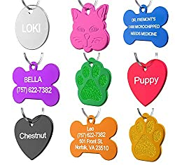 Anodized Aluminum Personalized Pet ID Tags