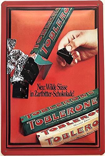 Deko7 blikken bord 30 x 20 cm Toblerone chocolade
