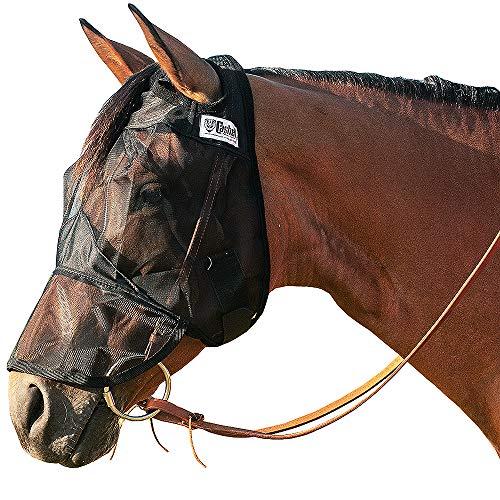 Cashel Quiet Ride Standard Fliegenmaske mit Langer Nase, schwarz, Horse