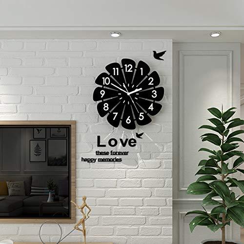 CCLLOO Horloge murale Horloge Murale Créative Avec des Autocollants Muraux Horloges Suspendues 3D Numériques Design Moderne Montre