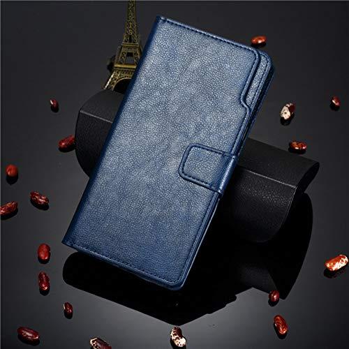 KKAAVV Funda de Cuero Flip Wallet P40lite para Huawei P40 P30 P20 P10 Mate 30 20 10 Lite Pro Y9 Y7 Y6 P Smart 2019 Tarjeta Cubierta del teléfono, Azul, para Mate10lite