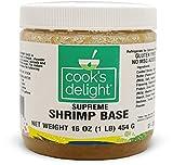 Cook's Delight® Shrimp Soup Base, Instant Shrimp Stock, Bouillon, Shrimp Broth, Gluten Free, Zero Trans Fat, Seafood Flavor, Makes 5-1/2 Gallons Shrimp Soup Stock