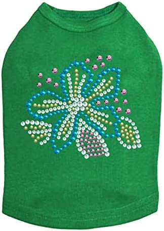 Special Campaign Turquoise Flower Selling and selling - Dog Green Shirt S Kelly