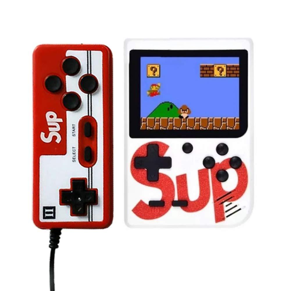 Amazon.es: Rabusion Consola de Juego de Mano Sup X Game Box 400 en una Consola de Juegos portátil Puede conectarse a un televisor Blanco 2player Juguetes electricos Accesorios de Juguetes