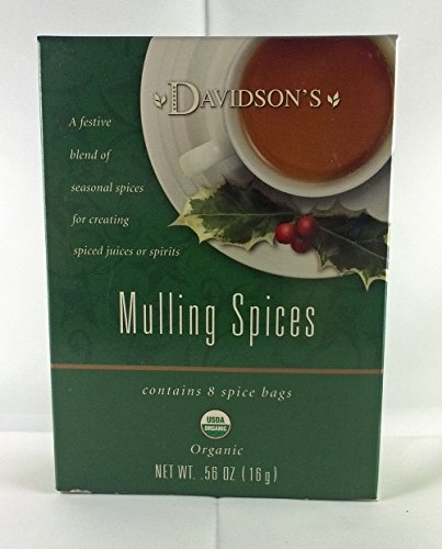 Tea Bag Box of 8 Organic, Mulling Spices