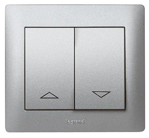 Legrand galea life - Tecla mando persiana doble interruptor pulsador galea aluminio