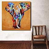 Pintura sobre lienzo Pinturas decorativas Colorido Oleo Animales Pinturas de elefantes preciosas Pinturas modernas sobre lienzo Imagen ropa de cama Habitación Arte de la pared Carteles