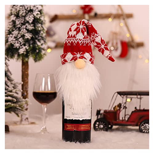 LMMY Feliz Navidad Cubierta de la Botella de Vino Decoraciones para el hogar 2020 Navidad Año Nuevo Navidad Botella de Vino Botella de suéter Cubierta (Color : 39 x 12cm I02) ⭐