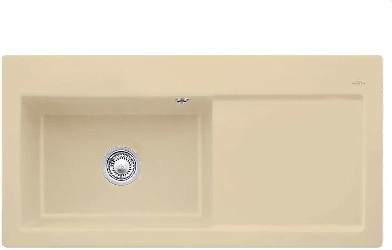 Villeroy & Boch Subway 60 XL Sand Keramik-Spüle Beige Küchenspüle Einbaubecken
