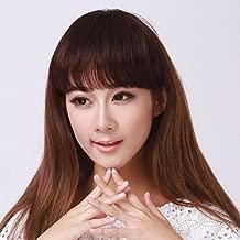 Shinon Real Human Hair Bangs Straight Thick Fringe Hair Clip in Hair Extension Dark Brown Color