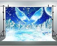 新しいJSCTWCL10x7ft冷凍背景スノーマウンテンエンジェルウィングビデオフォトスタジオ小道具用ファンタジー背景341