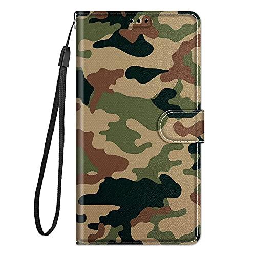zl one Compatible con/reemplazo para la caja del teléfono Xiaomi Redmi 6A PU protección de cuero lindo pintado ranuras de tarjeta cartera Flip Cover (c12)