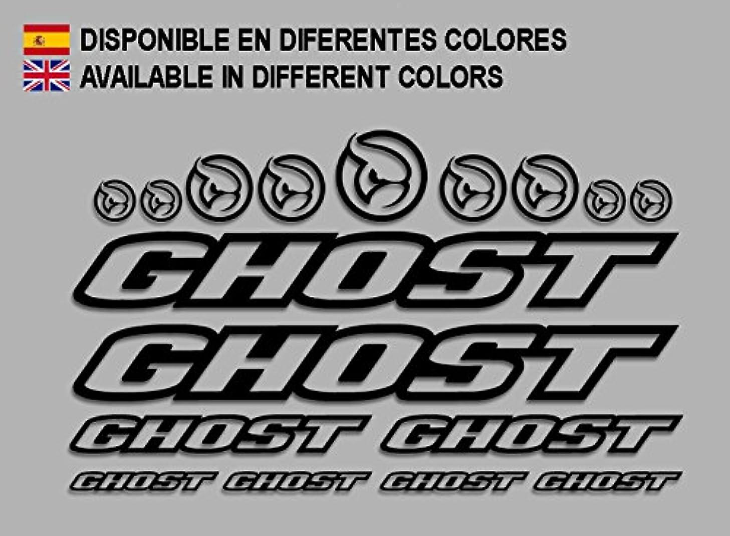 Ecoshirt 8K-8CIA-WFY1 Stickers Ghost F188 Vinyl Adesivi Decal Aufkleber ΔΟ MTB Stickers Bike, Black