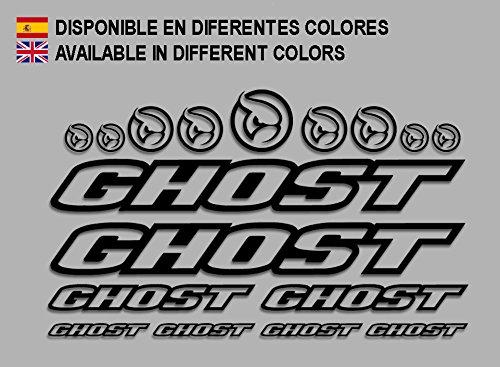 Ecoshirt 8K-8CIA-WFY1 Aufkleber Ghost F188 Vinyl Adesivi Decal Aufkleber ・・・・llavero MTB Stickers Bike, schwarz
