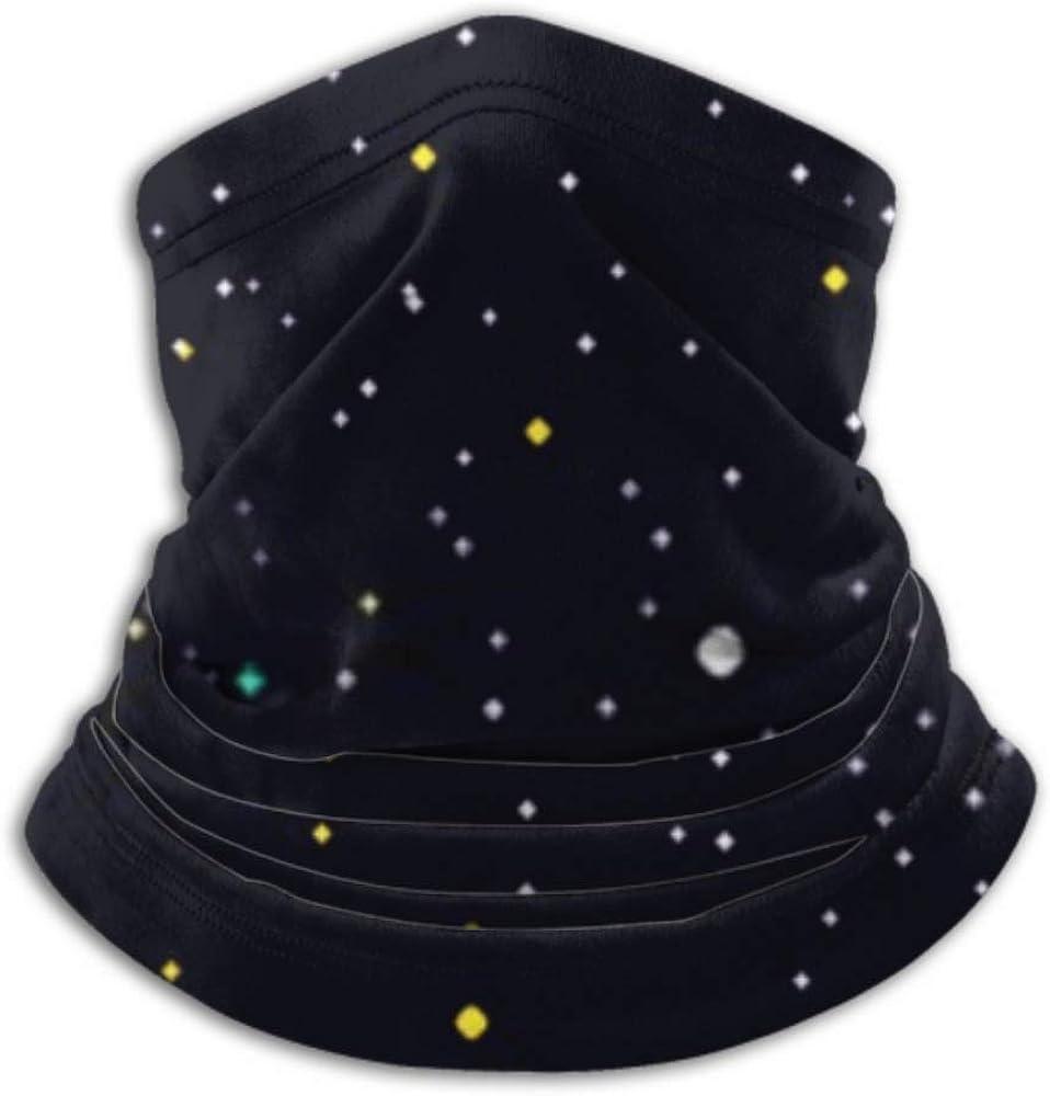 Fleece Neck Warmer ,multifunctional Starry Night Sky Background Scarf,Neck Gaiter, Neck Cap, Neck Scarf, Balaclava, Headwear, Bandana,