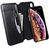 JisonCase iPhone Xs/X レザーケース Detachable XS/X Flip Case ブラック US4-IXS-05A10