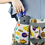 Dear Hammer Egg Collecting Apron Linen Material for Chicken Ducks Gooses Eggs 20 Pockets for Multiple Eggs Farmhouse Kitchen Home Workwear Apron.