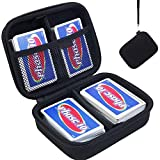 PAIYULE Hard Case Compatible for Phase 10 Card Game. Fits up to 360 Cards. Includes 2 Removable Divider(Black)