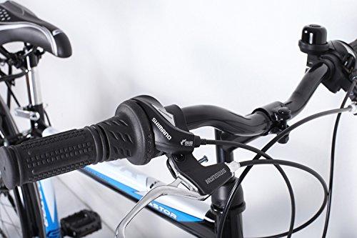 24 Zoll Jungen Fahrrad 21-Gang Shimano MIT Beleuchtung Farbe SCHWARZ TMX - 3