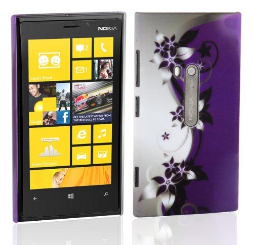 Cadorabo – TPU Hard Cover per  Nokia Lumia 800  - Case Cover Involucro Bumper Accessorio in Design: Fiore-Violetta