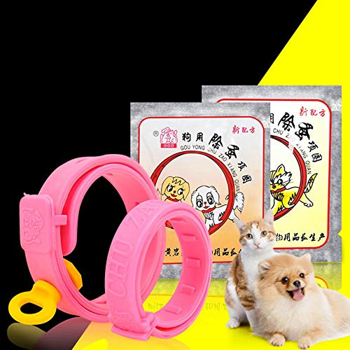 Collar Ajustable para Mascotas, para Perros, para pulgas, para Gatos, para Quitar Las pulgas, para piojos, para garrapatas, Collar, Rosa