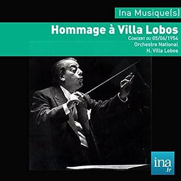 Hommage à Villa Lobos, Orchestre Radio-Symphonique de la RTF, Concert du 05/06/1954, H. Villa Lobos (dir)