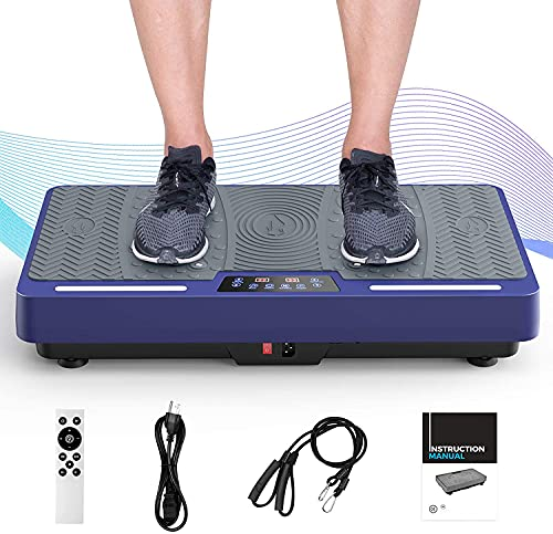 RINKMO Vibration Plate Exercise Machine, Whole Body Workout Vibration Fitness Platform with Loop...