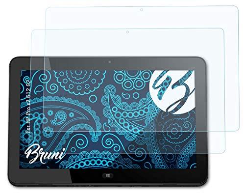 Bruni Schutzfolie kompatibel mit HP Pro x2 612 G2 Folie, glasklare Bildschirmschutzfolie (2X)