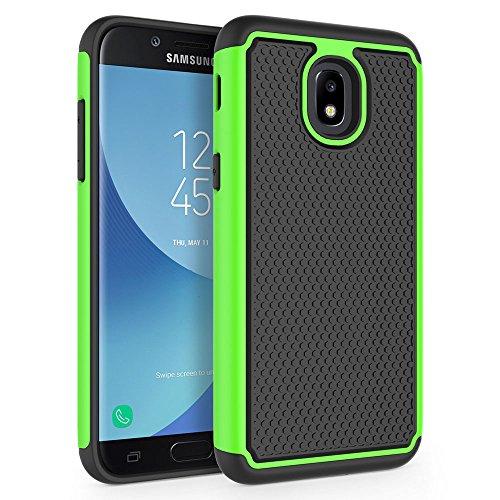 SYONER Shockproof Phone Case Cover for Samsung Galaxy J3 2018 / J3 V 3rd Gen / J3V 2018 / J3 Orbit / J3 Star / J3 Achieve/Express Prime 3 / Amp Prime 3 / J3 Eclipse 2 / Sol 3 / J3 Aura [Green]
