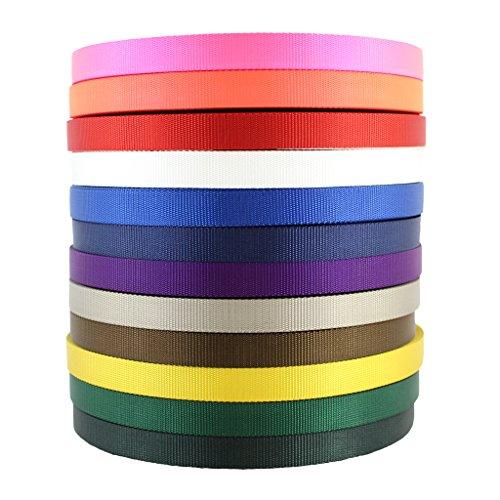 Nylon Webbing (3/4 inch) - SGT KNOTS - Nylon Strap - All Purpose Flat Rope - Heavy Duty Webbing - for Crafting, Gardening, Cargo Straps, Tie-Down, Fishing Lines, Marine, More (5 Yards - Black)