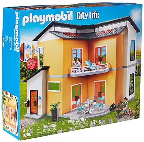 PLAYMOBIL City Life 9266 Casa Moderna, con Efectos de Luces y Sonido, A partir...