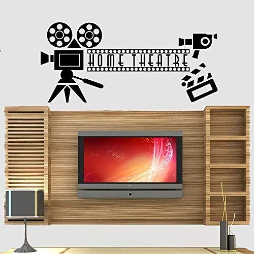 RTYUIHN Decoración de la sala de estar cine en casa cine pared arte calcomanías dormitorio pared arte calcomanías vinilo autoadhesivo 92 * 42 cm
