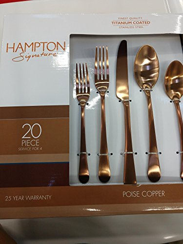 Hampton Signature Poise Copper Flatware Set 20Pc