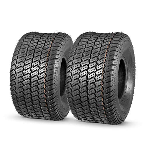 MaxAuto 2 Pcs 20x10-8 Lawn Mower Cart Turf Tires P332 4PR Load Range B