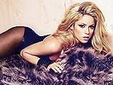 5-HO62CA Shakira 47cm x 35cm,19inch x 14inch Silk Print